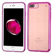 Insten TPU Case For Apple iPhone 7 Plus - Clear/Hot Pink