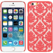 Insten Hard Rubber Coated Cover Case for Apple iPhone 6 / 6s - Red/White