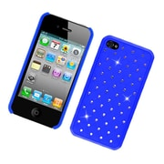 Insten Hard Cover Case with Diamond For Apple iPhone 4 4S - Blue