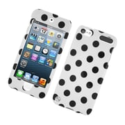 Insten Polka Dots Hard Plastic Case for iPod Touch 5th Gen - White/Black