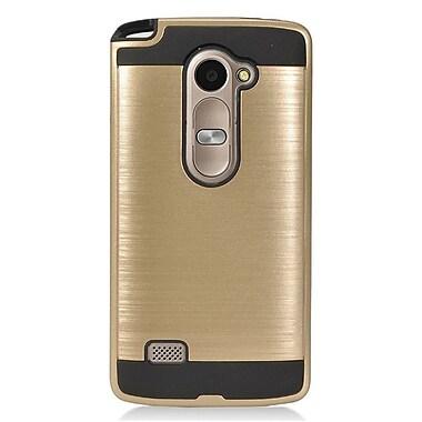 Insten Hard Dual Layer Hybrid Case For LG Destiny/Leon/Power/Risio/Tribute 2 - Gold/Black