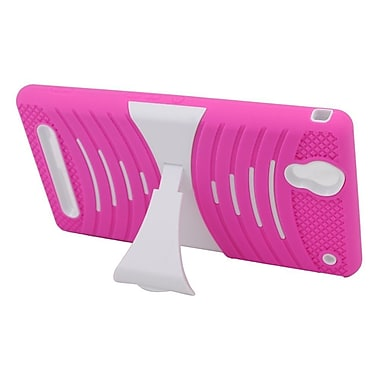 Insten Hybrid Rubber Hard Stand Case For Sony Xperia T2 Ultra - Hot Pink/White