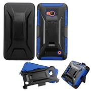 Insten Hard Dual Layer Plastic Silicone Case w/Holster For Microsoft Lumia 640 - Black/Blue
