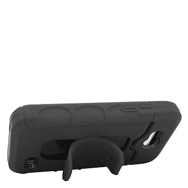 Insten Hybrid Rubber Hard Case with Stand & Card slot For ZTE Speed - Black