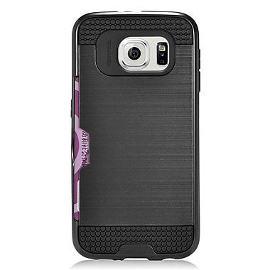 Insten Hard Hybrid Case with Card slot For Samsung Galaxy S6 - Black