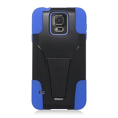 Insten Hard Hybrid Plastic Silicone Case with stand For Samsung Galaxy S5 Mini - Blue