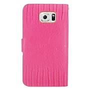 Insten Leather Wallet Cover Case with card slot For Samsung Galaxy S6 Edge, Pink/Gold (2225066)