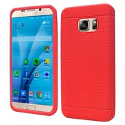Insten Rugged Gel Rubber Cover Case For Samsung Galaxy S7 - Red