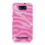 Insten Zebra Hard Bling Case For BLU Studio 5.5 - Hot Pink