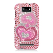 Insten Hearts Hard Rhinestone Case For BLU Studio 5.5 - Pink