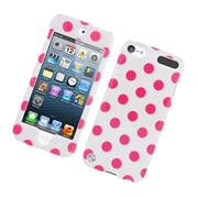 Insten Polka Dots Hard Plastic Case for iPod Touch 5th Gen - White/Pink