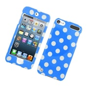 Insten Polka Dots Hard Plastic Case for iPod Touch 5th Gen - Blue/White
