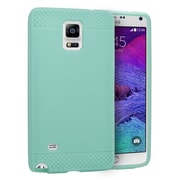 Insten Rubber Gel Skin Cover Case For Samsung Galaxy Note 4 - Mint Green