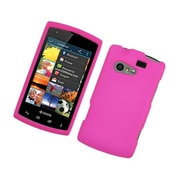 Insten Hard Rubberized Cover Case For Kyocera Rise C5155 - Hot Pink