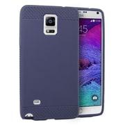 Insten Rubber Skin Gel Case For Samsung Galaxy Note 4 - Blue