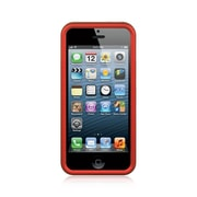 Insten Hard Rubber Case For Apple iPhone SE / 5 / 5S - Red