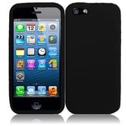 Insten For Apple iPhone SE 5 Silicone Skin Case Black
