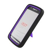 Insten Symbiosis Skin Rubber Hard Cover Case w/stand For Samsung Galaxy S4 Active - Black/Purple