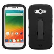 Insten Symbiosis Silicone Dual Layer Rubber Hard Case w/stand For ZTE Imperial II - Black