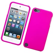 Insten Hard Rubber Cover Case For Apple iPod Touch 5th Gen - Hot Pink