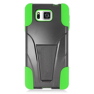Insten Hard Hybrid Plastic Silicone Case with stand For Samsung Galaxy Alpha - Green