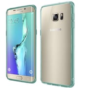 Insten Hard Dual Layer Crystal TPU Cover Case For Samsung Galaxy S6 Edge Plus - Clear/Teal