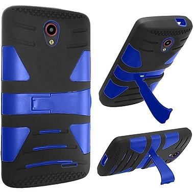 Insten Hard Dual Layer Silicone Case w/stand For ZTE Prestige - Black/Blue