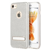 Insten Glittering Starry Dazzle Luxury TPU Cover Rubber Case with Kickstand For Apple iPhone 7 - Silver