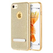 Insten Glittering Starry Dazzle Luxury TPU Cover Rubber Case with Kickstand For Apple iPhone 7 - Gold