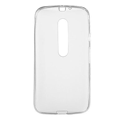Insten Transparent Frosted TPU Rubber Candy Skin Case Back Cover For Motorola Moto G (3rd Gen) - White