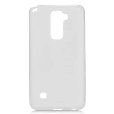 Insten Transparent Frosted TPU Rubber Candy Skin Case Back Cover For LG Stylo 2 / Stylus 2 - White