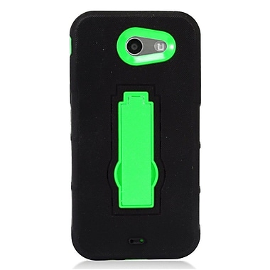 Insten Symbiosis Hybrid Hard Silicone Amor Shockproof Stand Case For Samsung Galaxy J3 (2017) - Black/Gray