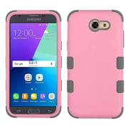 Insten Tuff Hard Hybrid Rubber Coated Silicone Cover Case For Samsung Galaxy J3 (2017) - Pink/Gray