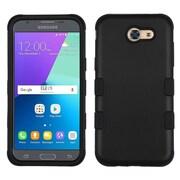 Insten Tuff Hard Hybrid Rubber Silicone Case For Samsung Galaxy J3 (2017) - Black
