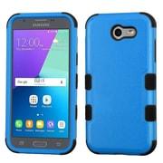 Insten Tuff Hard Hybrid Rubber Silicone Cover Case For Samsung Galaxy J3 (2017) - Blue/Black