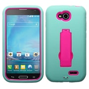 Insten Pink/Sky Blue Hybrid Rugged Shockproof Stand Heavy Duty Hard Premium Case Cover For LG D415 Optimus L90