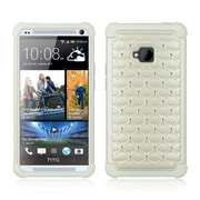 Insten Hard Dual Layer TPU Case w/Diamond For HTC One M7 - White