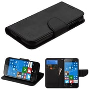 Insten Insten Luxury Wallet Leather Stand Case Cover with Card Slots for Acer Liquid M330 - Black
