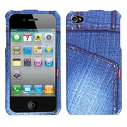 Insten Blue Jeans Phone Design Case with Studs For Apple iPhone 4 4S