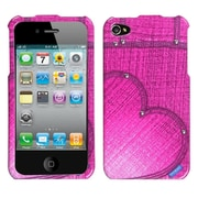 Insten Blushing Heart Jean Phone Case with Studs For Apple iPhone 4 4S