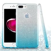 Insten Hard Dual Layer Glitter TPU Cover Case For Apple iPhone 7 Plus - Blue