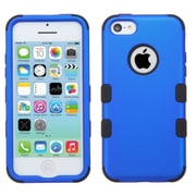 Insten Tuff Hard Hybrid Rubber Coated Silicone Cover Case For Apple iPhone 5C - Blue/Black