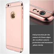 Insten Hard Dual Layer Rubber Case For Apple iPhone 6 / 6s - Rose Gold