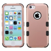 Insten Tuff Hard Dual Layer Rubber Coated Silicone Case For Apple iPhone 5C - Rose Gold/Black