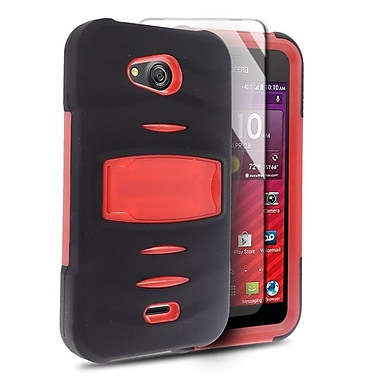 Insten Dual Layer Hybrid Case with Stand For Kyocera Hydro Wave - Black/Red