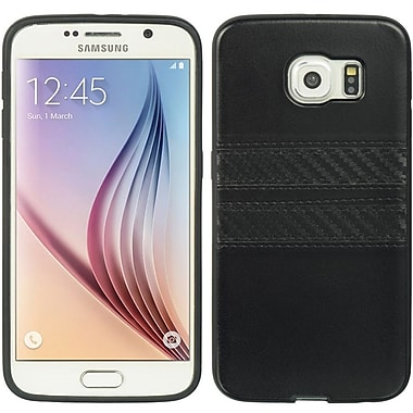 Insten Weave Leather Fabric Cover Case For Samsung Galaxy S6 - Black