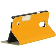 Insten Vertical Wallet Pouch Leather Flip Card Stand Case For Samsung Galaxy Note 4 - Orange