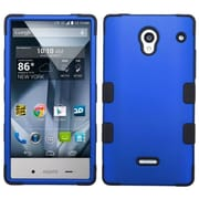 Insten For Sharp Aquos Crystal Blue Black Tuff Hard Silicone Hybrid Case Cover Rubber Shell Skin w/ protector