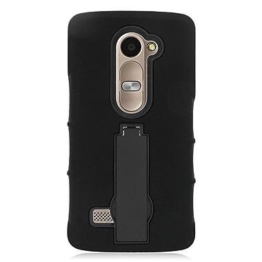 Insten Silicone Hybrid Rubber Hard Case For LG Leon/Destiny/Power/Tribute 2 - Black