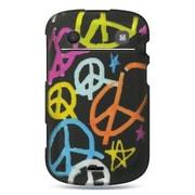 Insten Hard Rubber Cover Case For BlackBerry Bold Touch 9900 - Black/Orange